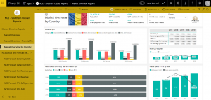 Power BI market overview by country screenshot
