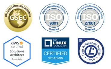 GSEC, ISO, AWS and Linux certifications
