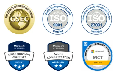 Microsoft Azure, GSEC, ISO certifications