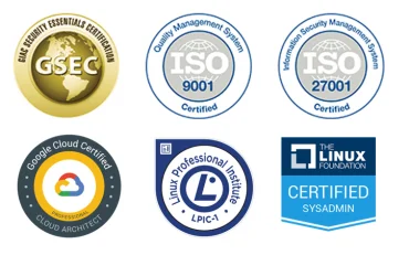 Google Cloud, GSEC, ISO, Linux certifications